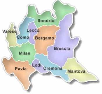Cartina Regione Lombardia Con Province.Italia Lombardia Il Portale Dei Bambini