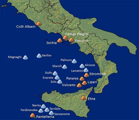 vulcani sottomarini italia